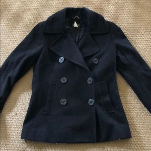 J crew black pea coat